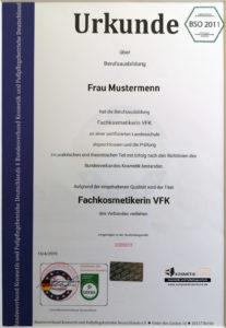 Bilinguale Kosmetikschule Fachkosmetikerin VFK