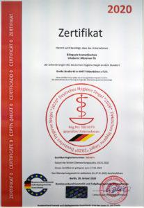 Bilinguale Kosmetikschule Zertifikat