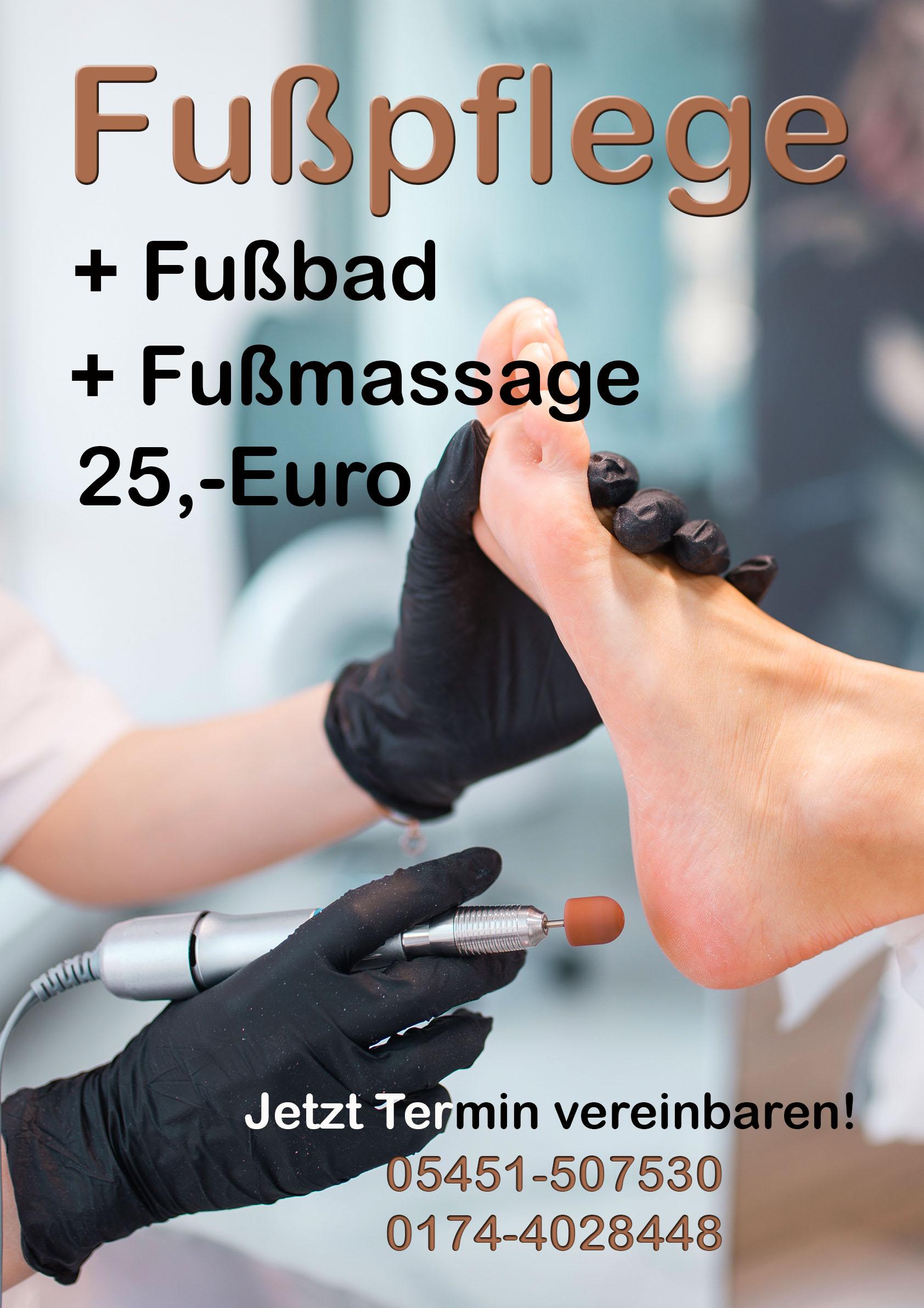 Fußpflege + Fußbad und Fußmassage- 05451 507530